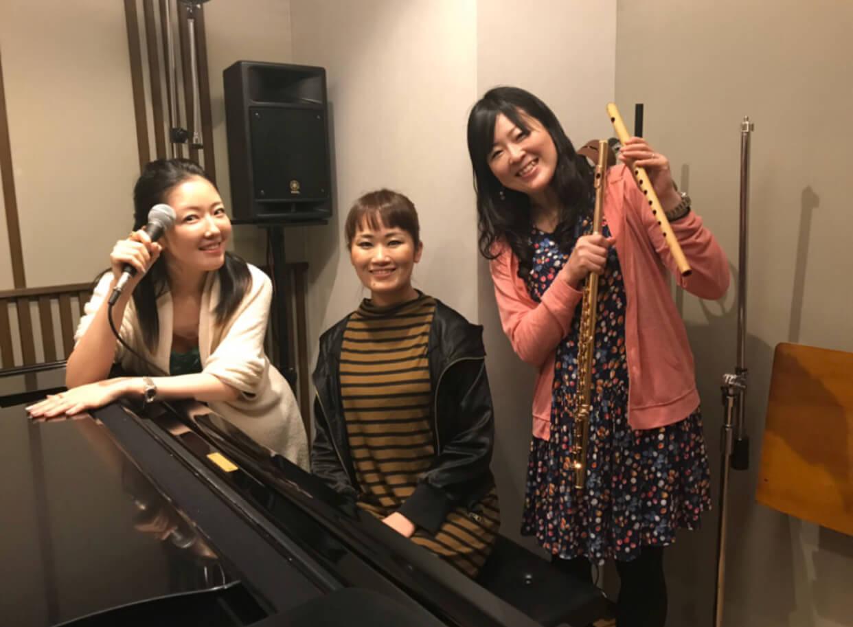 トリオ初音合わせ/ piano & flute & sing